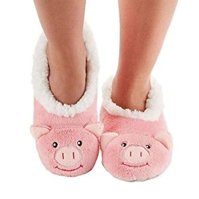 aaaf2115566 snoozies Pink Pig Animal Slippers - Small 3-4 Ladies Girls - Cute   Soft  Sherpa Fleece  Amazon.co.uk  Shoes   Bags