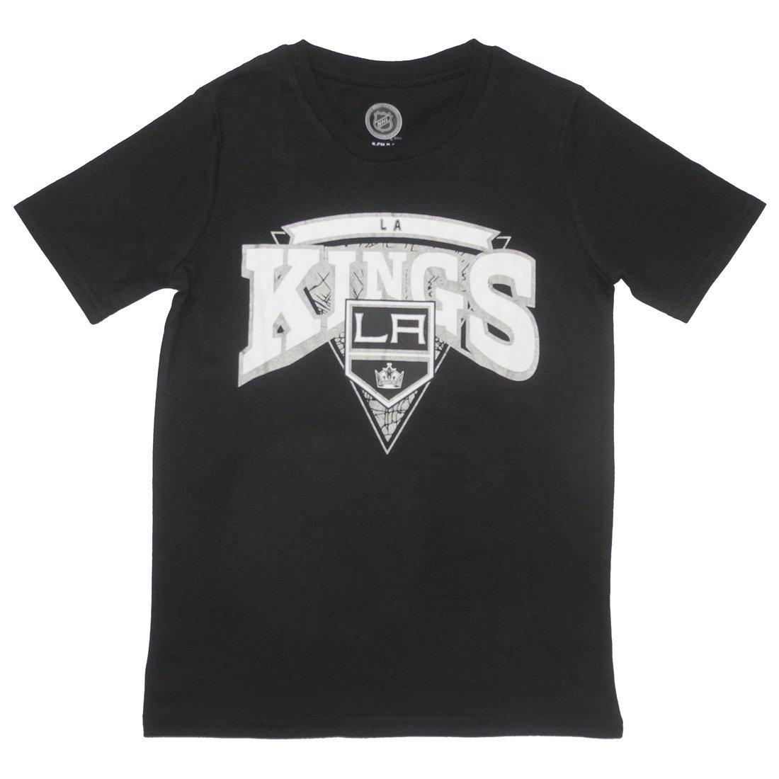 ユースNHLアスレチッククルーネック半袖Tシャツ: Los Angeles Kings S(8) ブラック B01NACJ8WP