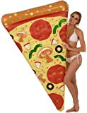 Kangaroo's 6' Pizza Slice Pool Float with Toppings; Inflatable Raft, Pool Floats