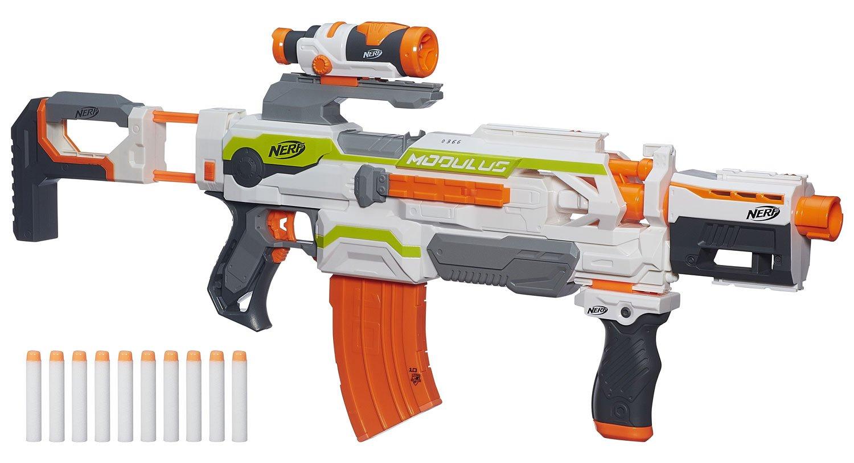 Hasbro Nerf N-Strike Elite XD Modulus ECS-10 Blaster mit viel Zubehör
