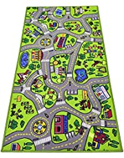 """Toyvelt Kids Carpet Playmat Car Rug – City Life Educational Road Traffic Carpet Multi Color Play Mat - Large 60"""" X 32"""" Best Kids Rugs for Playroom & Kid Bedroom – for Ages 3 - 12 Years Old"""