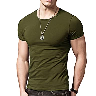 Amazon.com  Acooe Short Sleeves T-Shirts Crew-neck 906a63833bfe