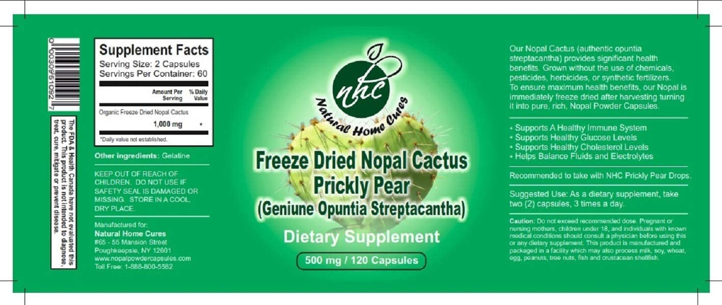 Super Concentrated/High Potency (Freeze Dried) Nopal Cactus (Prickly Pear) Capsules with Immune Booster Support - (Freeze Dried = is Equivalent to 3 Bottles of Nopal Cactus in 1 Bottle)