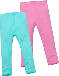 MiniKidz Girls 2 Pack of Pastel Leggings