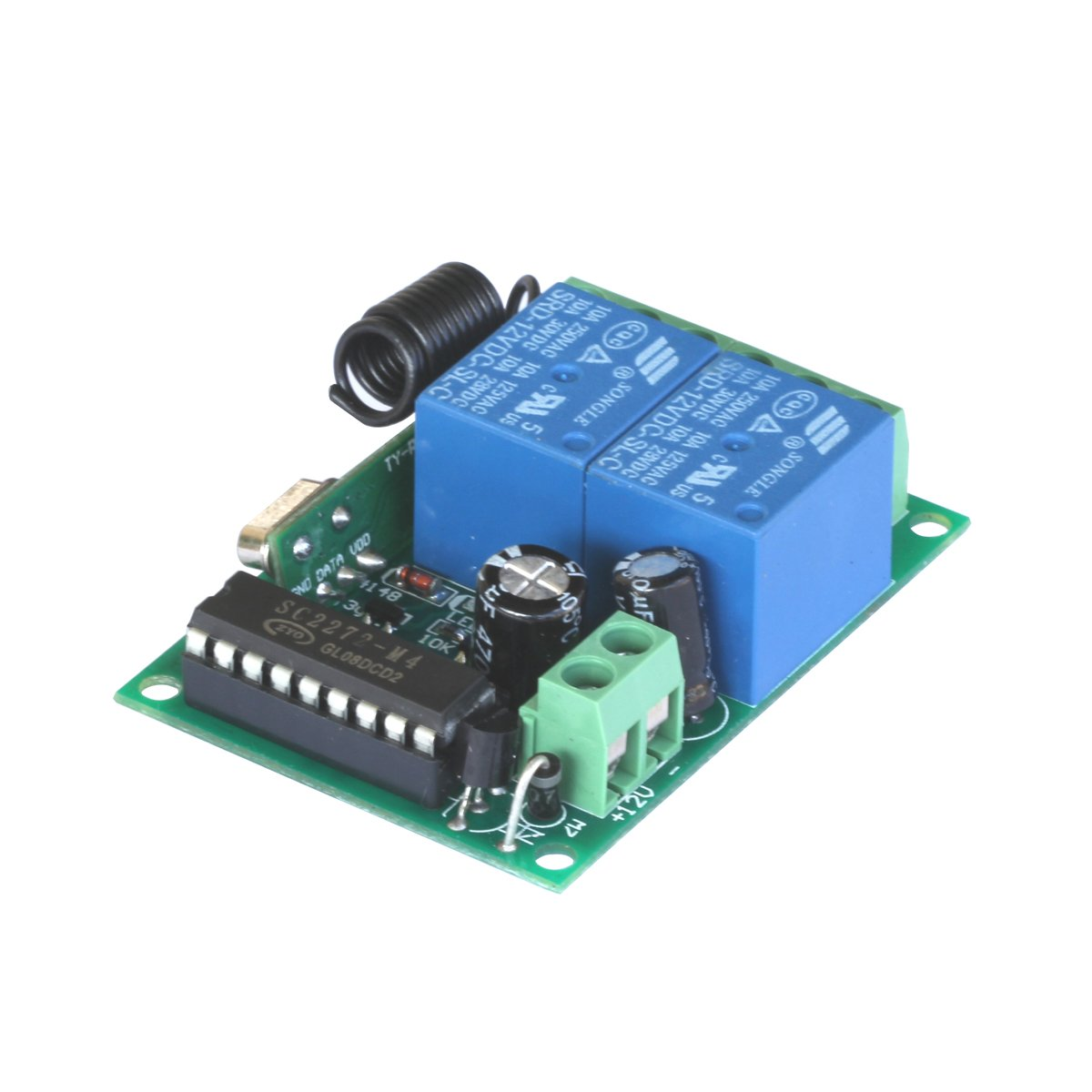 transmisor 12 V 10 A canal 2 LEORX colorfulbagsuk puerta garaje abridor interruptor de Control remoto inal/ámbrico
