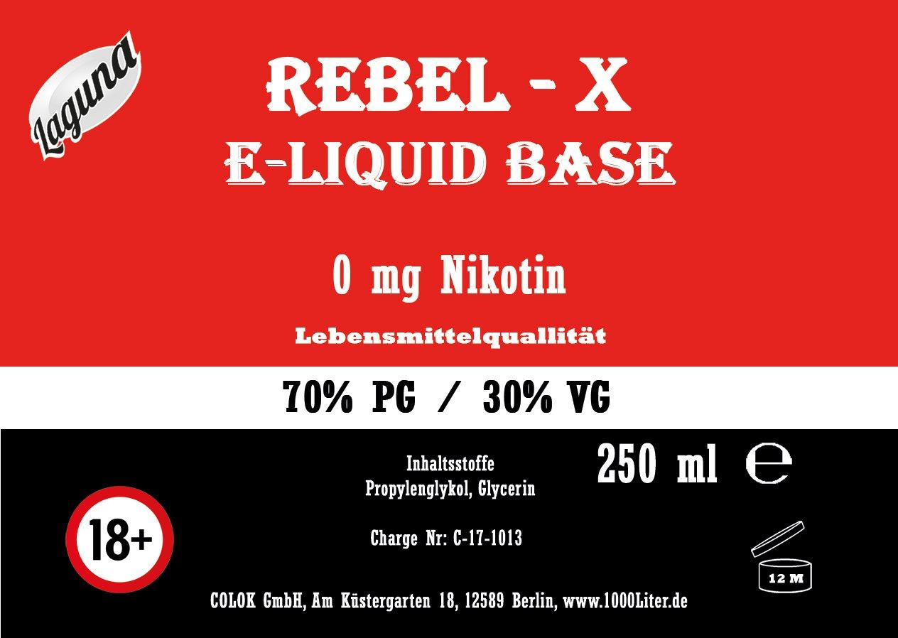 E Liquid Base 250ml 70 Pg 30 Vg Fr Mehr Geschmack Laguna Rebel X Pur Vape Ohne Nikotin 0 Drogerie Krperpflege