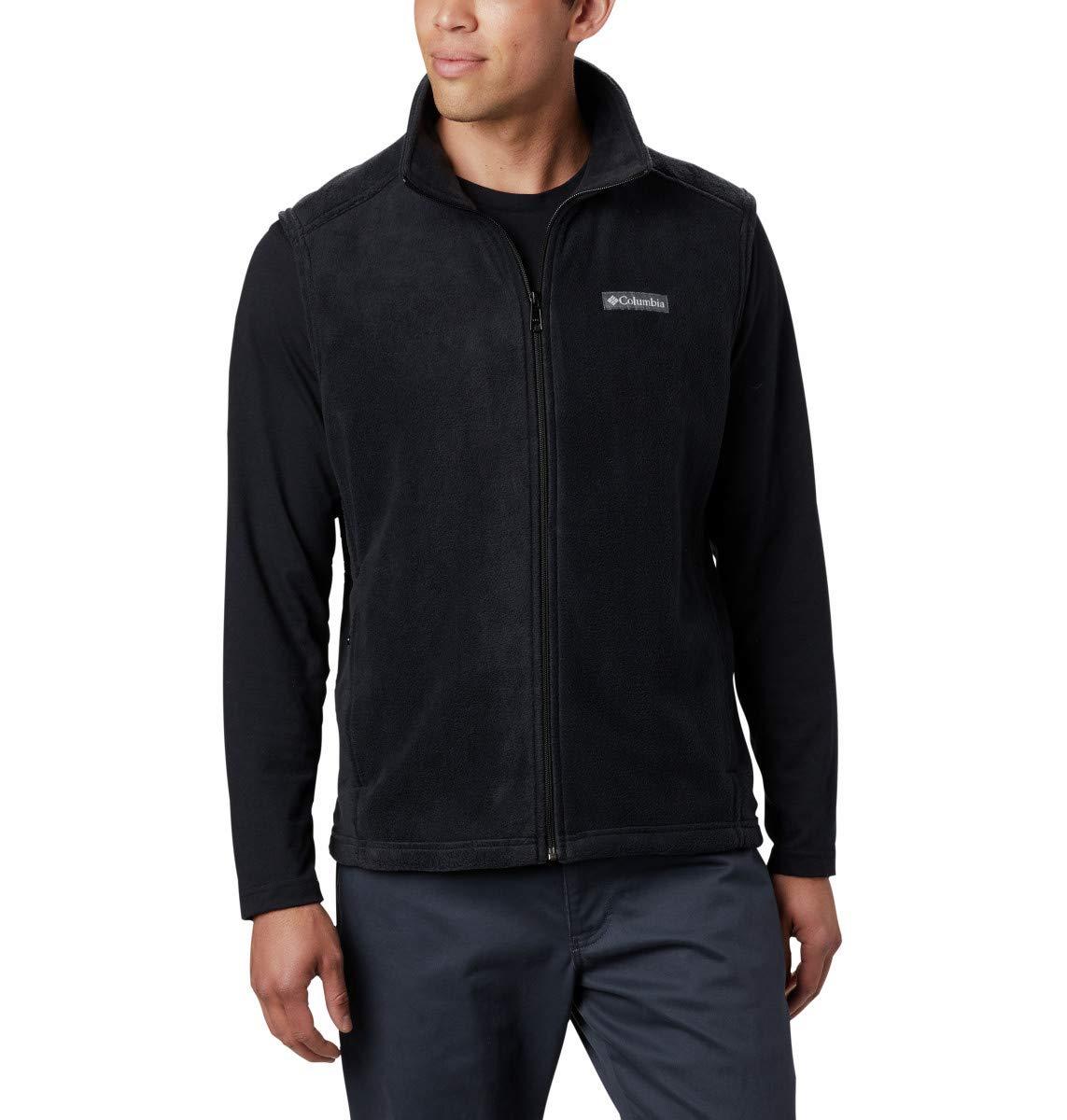 Columbia Men's Steens Mountain Full Zip Soft Fleece Vest, Black, XX-Large by Columbia