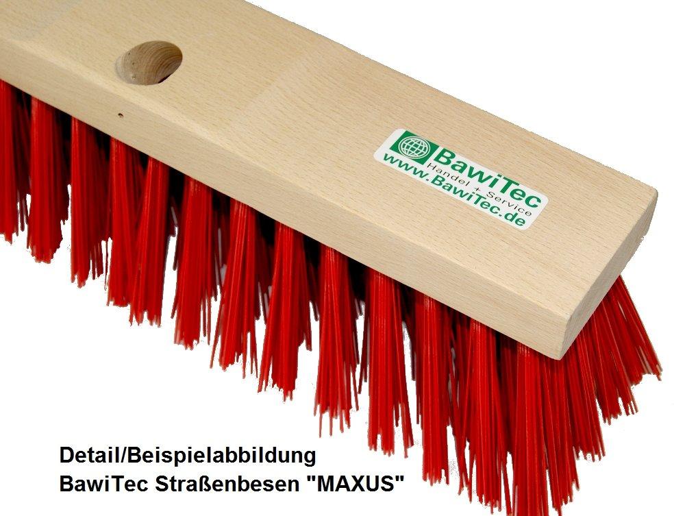 Besen 60cm // Stiel 160cm BawiTec Stra/ßenbesen MAXUS mit Stielloch und Stiel 40cm 50cm 60cm 140cm 160cm Elaston-Besen rot