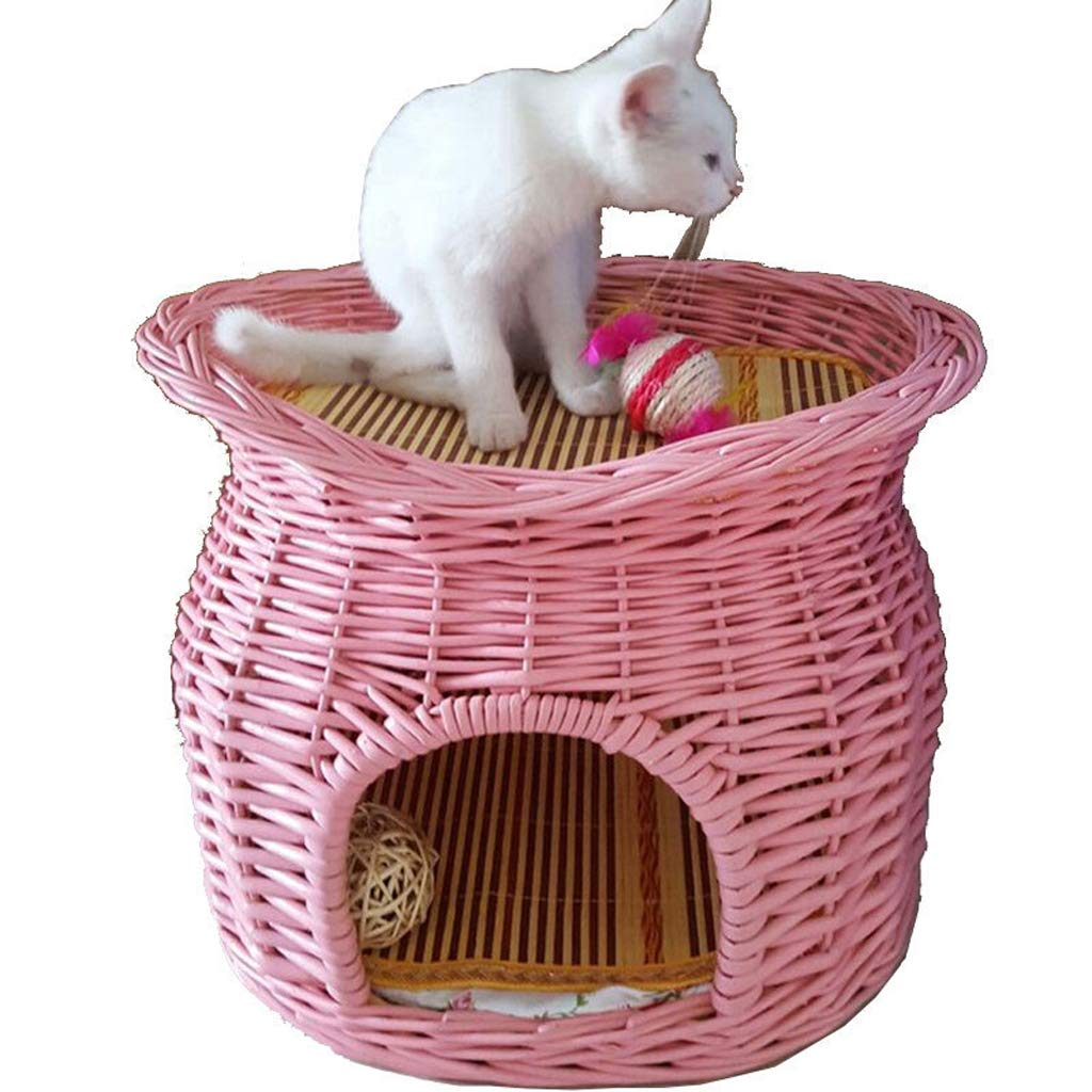 B JBP Max Dog Bed Cat Nest Pet Nest Pet Bed Wicker Cat Litter Cat House Cat House Cat Cage Pet Nest Grass Kennel Rattan Puppies,B