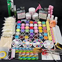 Coscelias Acrylic Powders Glitters For Decorations Nail Art Manicure Sets Tools