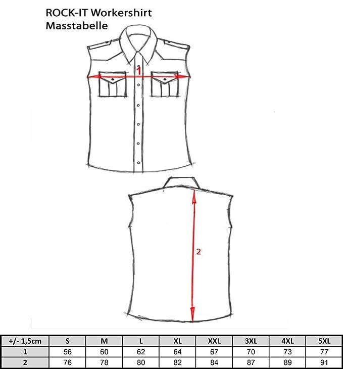 ROCK-IT Camisa de franela de sin margas para hombres camisa de leñador a cuadros fabricada en Europa diversos colores S-5XL 44k8VfQ