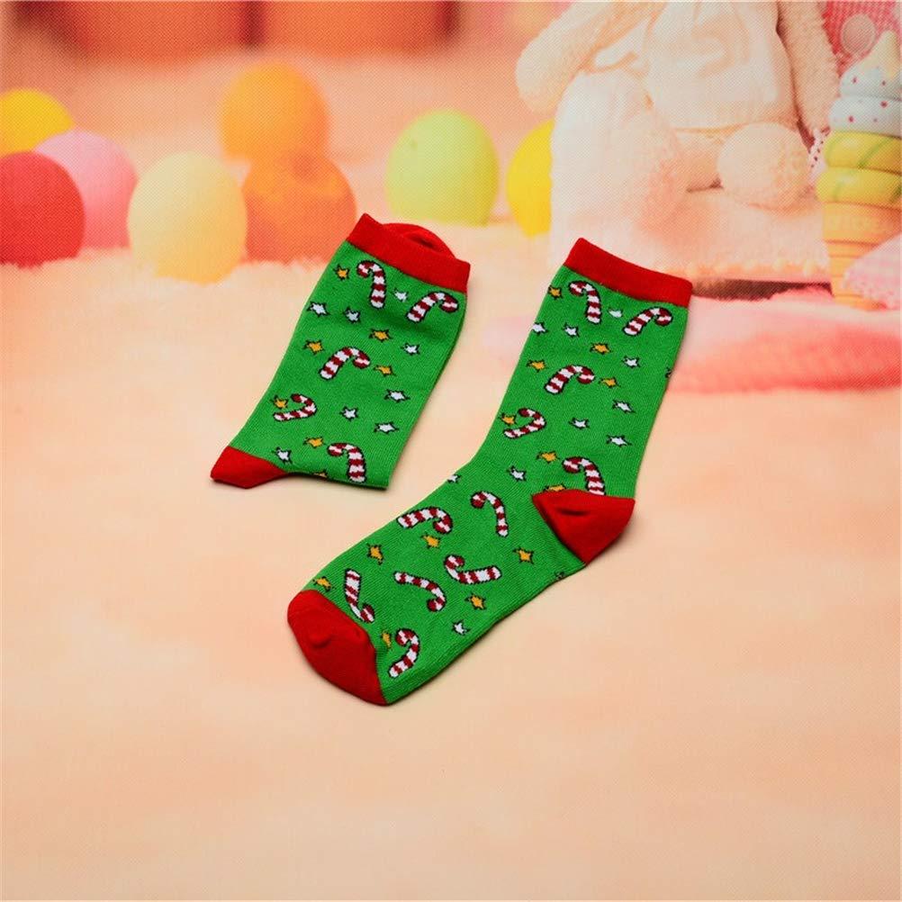 Men Socks Women Size 6-11 Christmas Calf Socks Free Size Warm Santa Kid Gift