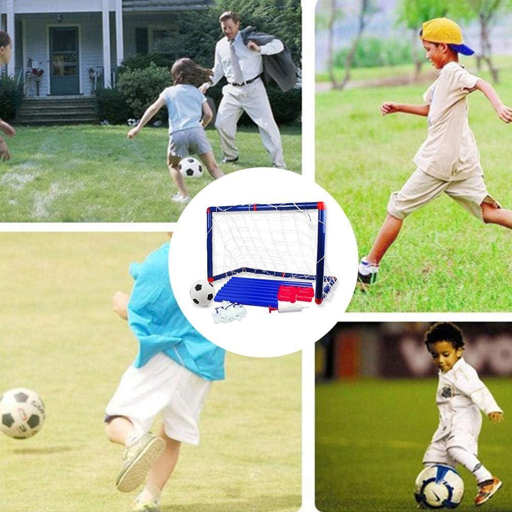 pologyase Kinder Fu/ßball Torpfosten Netz Mit Ball Pumpe Kinder Sport Fu/ßball Spielzeug Set F/ür DIY Indoor Outdoor Praxis