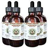Caraway Alcohol-FREE Liquid Extract, Organic Caraway (Carum carvi) Dried Fruit Glycerite 4x4 oz