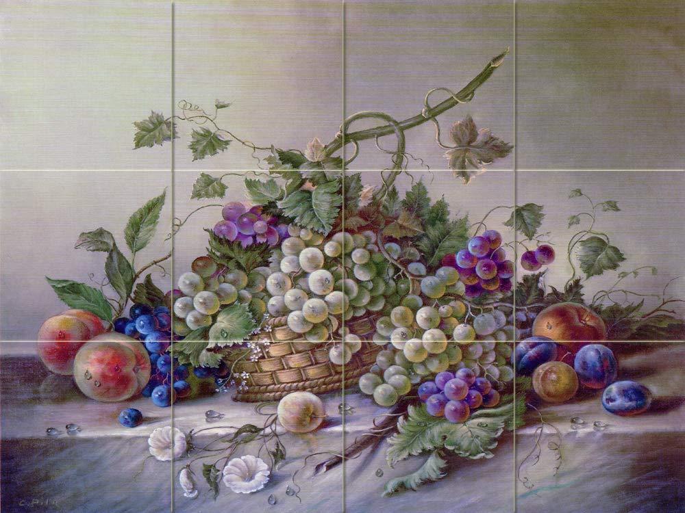 FlekmanArt Fruits Bouquet by Corrado Pila - Art Ceramic Tile Mural 24'' W x 18'' H (6x6 Tiles) Kitchen Shower Bath Backsplash by FlekmanArt