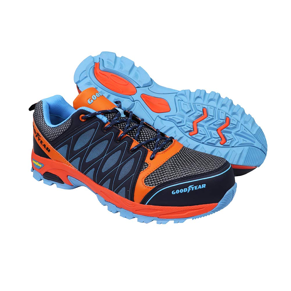 Goodyear Workwear GYSHU1583 S1P/SRA/HRO Zapatillas de seguridad para hombre, ligeras, no metálicas, con puntera y entresuela de Composite, 11 UK (45 EU), multicolor, 1