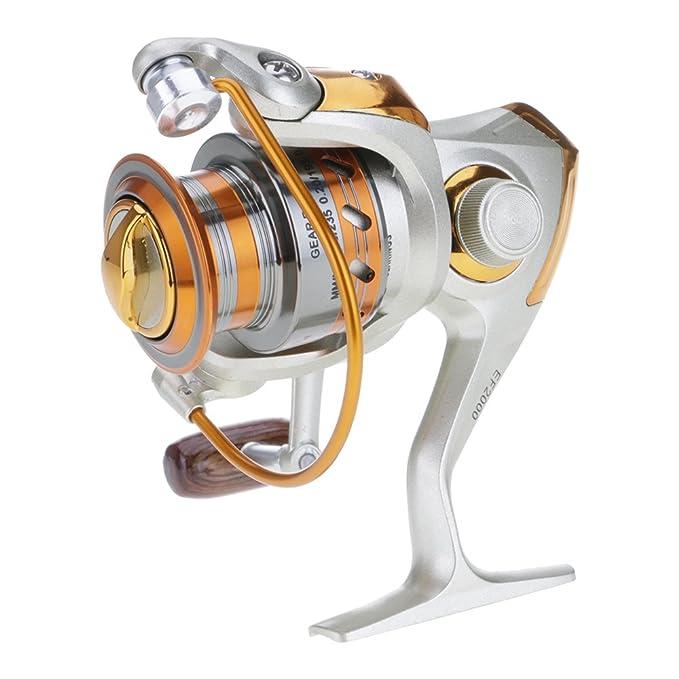 VANKER ligero Fisher Metal Spinning carrete de pesca EF Serie 12BB ...
