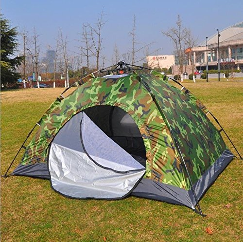 WZH 2-3 im freien Zelt 4 Personen verdoppeln automatische Geschwindigkeit mit dem Strand wandern Campingtourismus Camo