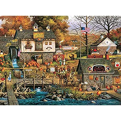 Adults 1000 Pieces Modern-Jigsaw Puzzles Buffalo Games - Charles Wysocki's- Olde Buck's County - 1000 Piece Jigsaw Puzzle: Toys & Games