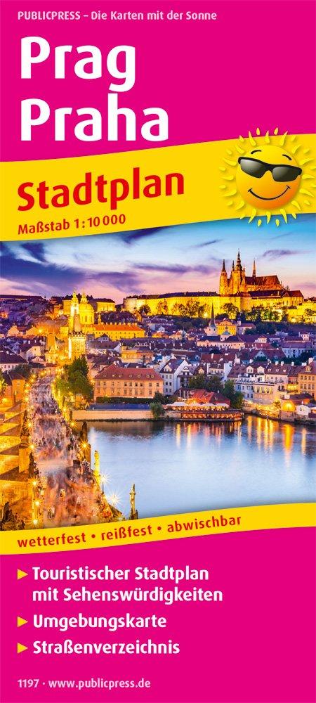 Prag Karte Sehenswurdigkeiten.Prag Praha Touristischer Stadtplan Mit Sehenswurdigkeiten