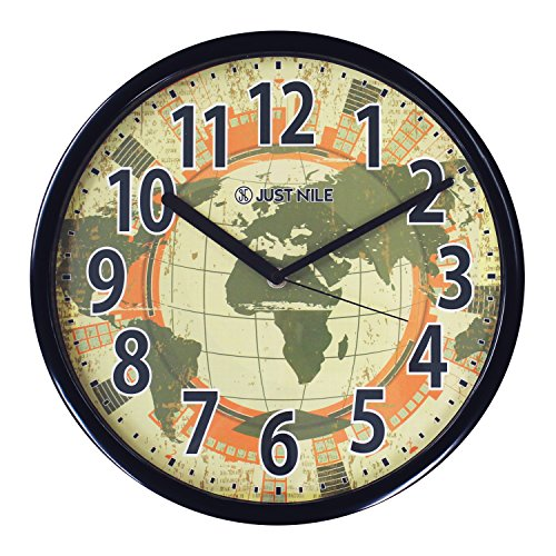 World clocks amazon 13 creative round quiet wall clock world map gumiabroncs Choice Image