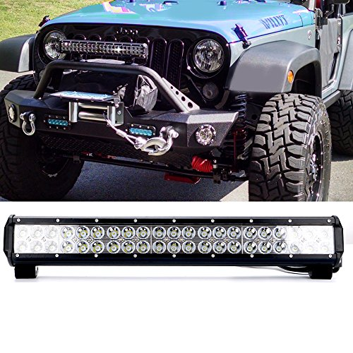 20In Flood Spot Combo Led Light Bar Reverse Backup lights Driving Fog lights Fits Bumper Bull Bar Grille For Truck Jeep Ford F150 Polaris Ranger Dodge Ram Tractor 4 Wheeler ATV Golf Cart GMC Chevy