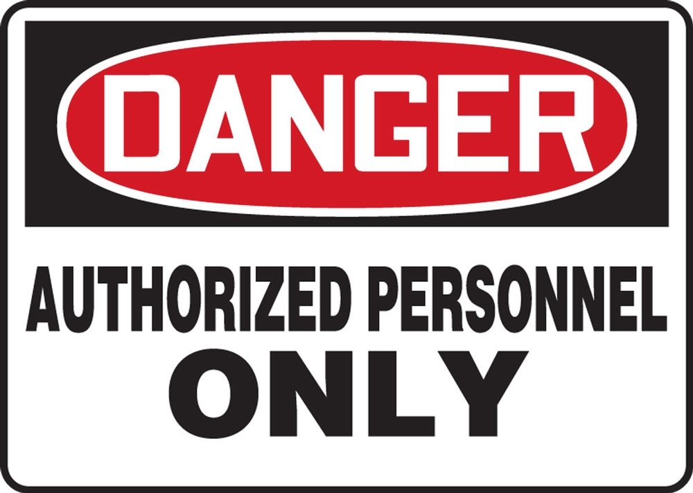 MADM006XP AccuformDanger Authorized Personnel Only Safety Sign 10 x 14 Inches Accu-Shield