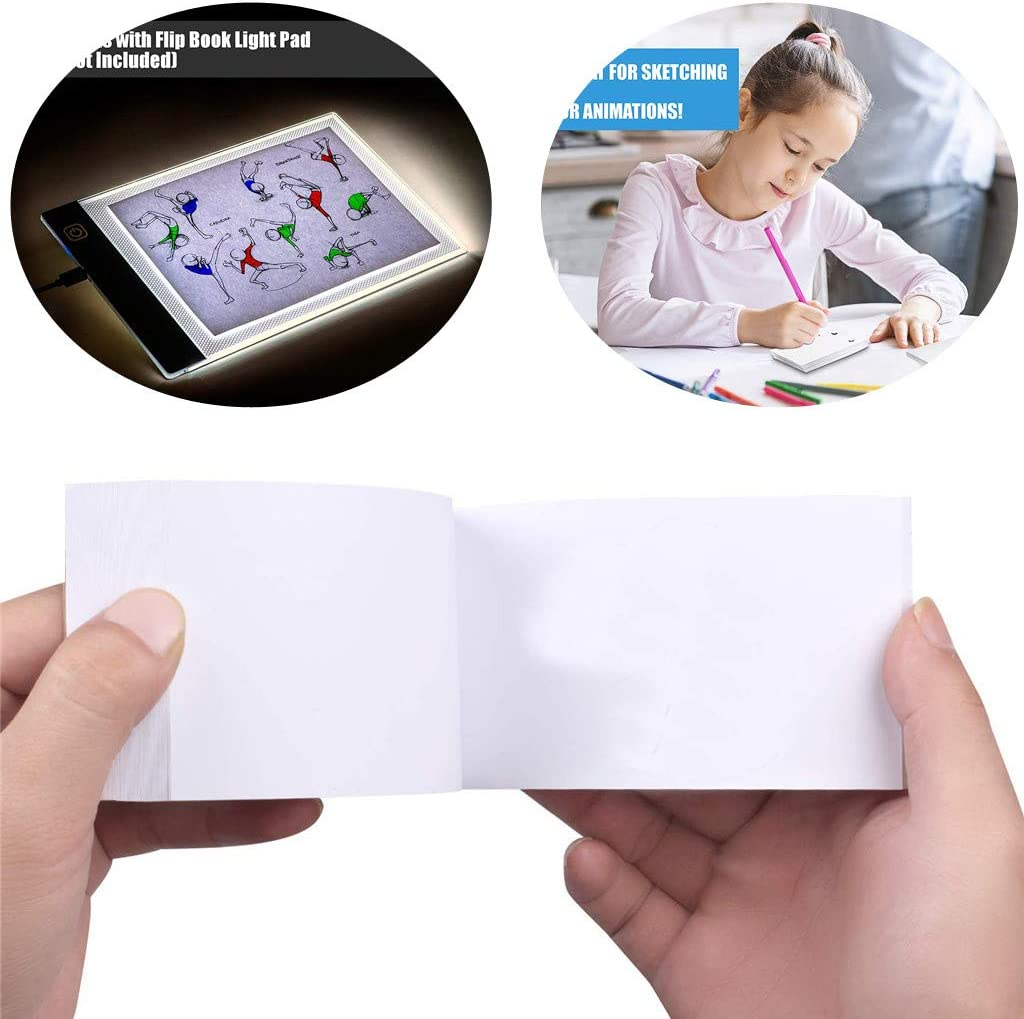 Flip Book Kit LED Lightbox for Drawing and Tracing /& 240 Sheets Animation Paper for Flip Books A5 Flipbook Kit