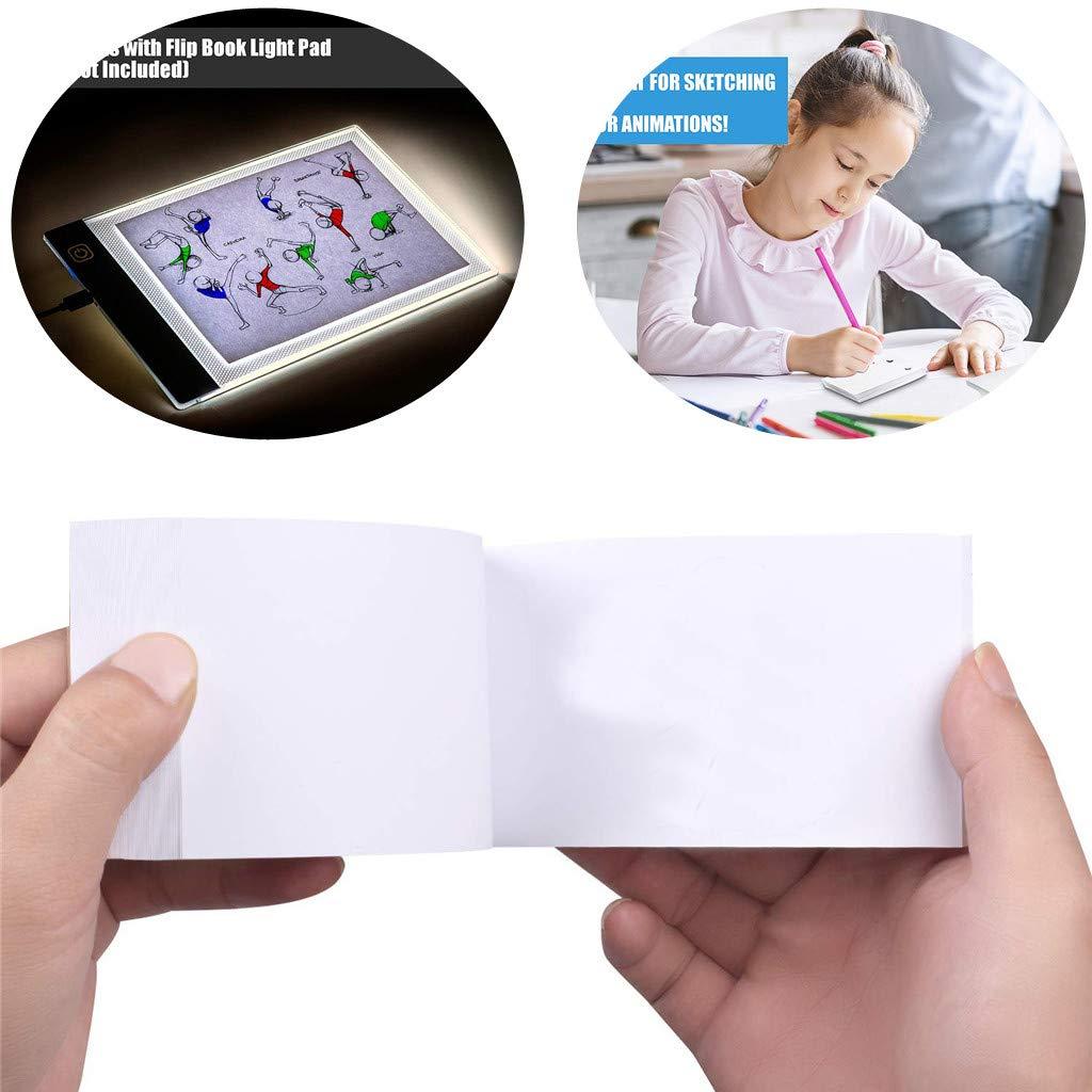 Bloc de Notas Cuaderno de bocetos Bloc de Notas Sixcup Bloc de Papel vac/ío con Agujeros 240 hojas//480 p/áginas para Diario