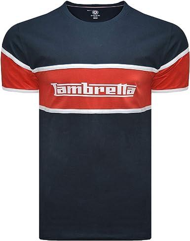 Lambretta - Camiseta de Manga Corta para Hombre con Logo de Panel ...