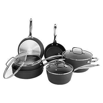 Cooksmart Kingbox - Juego de ollas y sartenes de aluminio anodizado ...