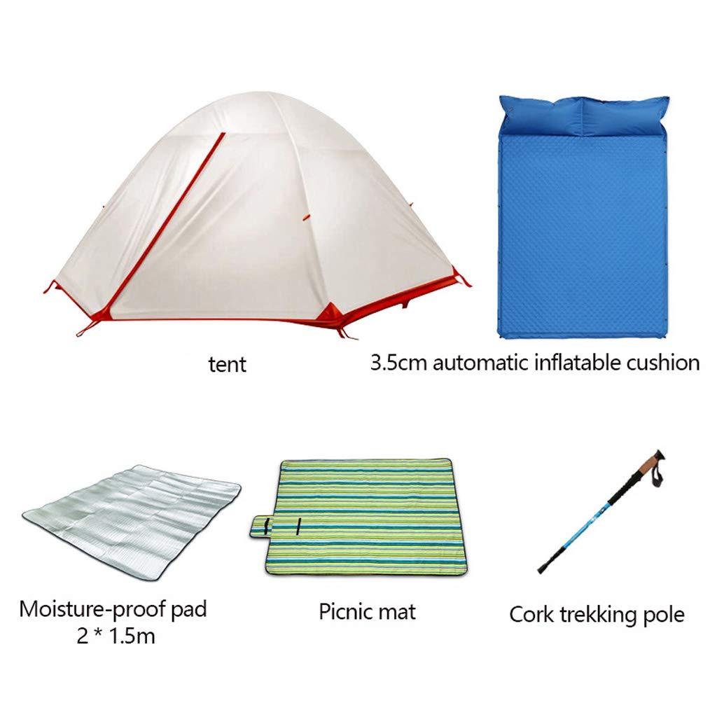 L tent 2 Personen Zelt,Lovers Outdoor-Zelt Doppelschichtgewebe Abnehmbare Struktur,Wasserdichter Winddichter UV-Schutz,Perfekt füR Reisen Strand Angeln Jagd Wandern Camping