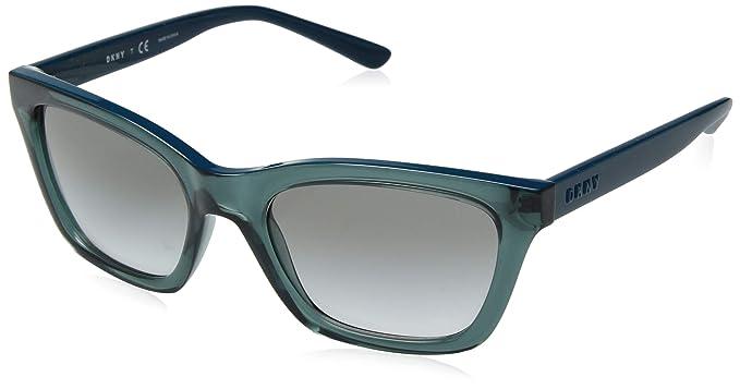 DKNY 0DY4158 Gafas de sol, Transparente Teal, 55 para Mujer ...