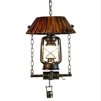 Atmko®Iluminación colgante Lámparas de techo colgantes retro ...