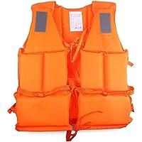 takestop® Giubbotto Salvataggio SALVAGENTE Arancione Adulto con Fischietto Mare Fiume SCII Nautico Sport Acqua Navigazione