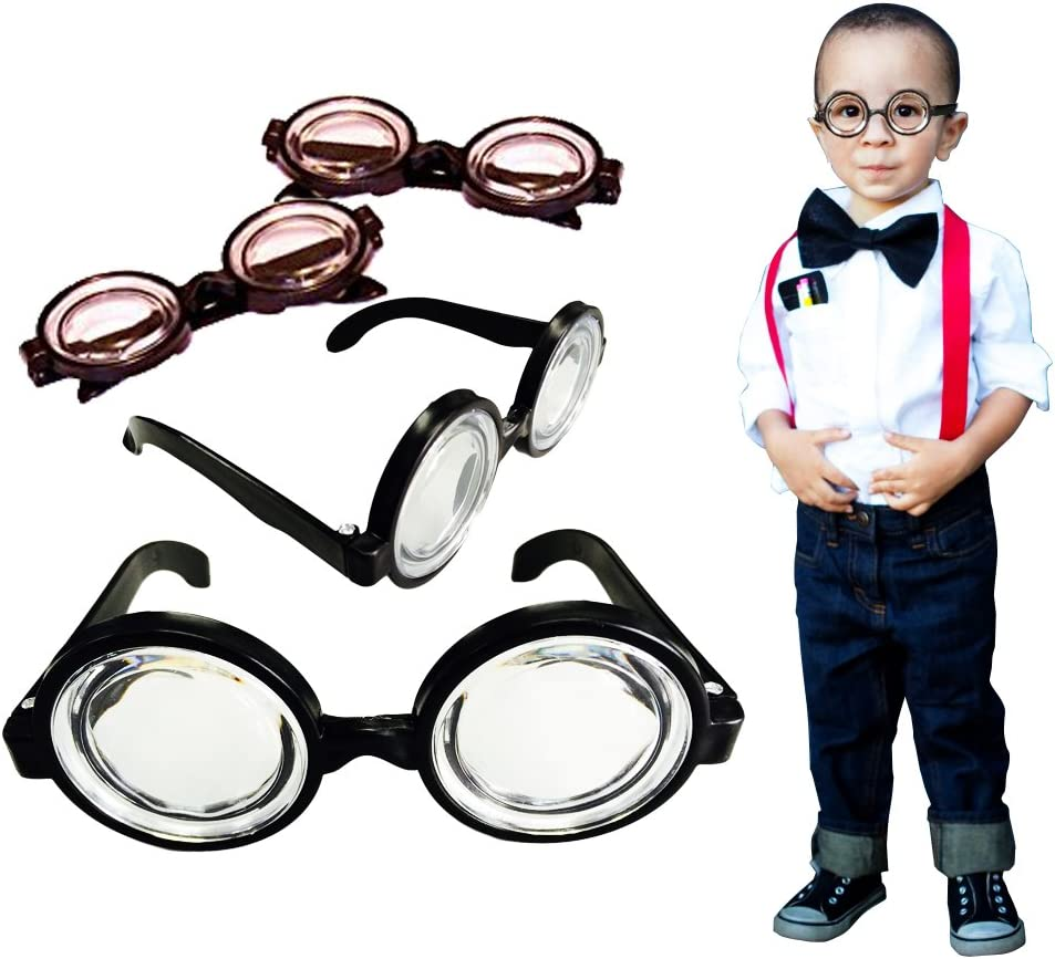 Nerd and Round Wizard Glasses 12 Piece Party Favor