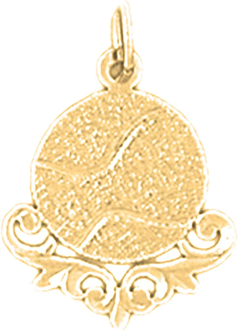 20 mm Jewels Obsession 14K Yellow Gold Racquet Pendant