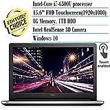 2016 Newest Dell Inspiron 15.6-inch FHD Touchscreen Premium Laptop PC, Intel 6th Gen Skylake i7-6500U, 8GB RAM, 1TB HDD,DVD/RW Burner, Bluetooth, Backlit keyboard ,Windows 10, Silver