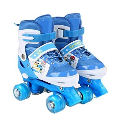 Weardear Sports Adjustable Inline Skates for Kids with Illuminating Wheels, Roller Skates Shoes for Girls Boys and Ladies : Sports & Outdoors