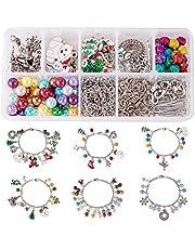 SUNNYCLUE Crystal Christmas Bead Earring Making Kits