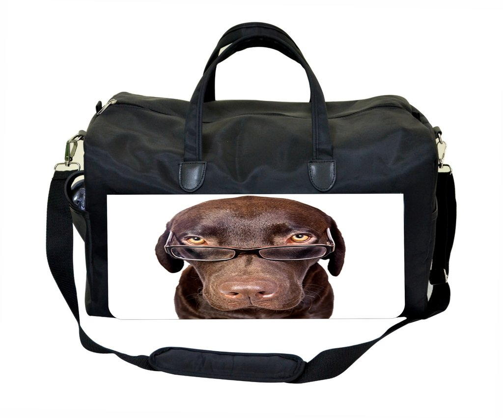 Dog in Glasses Design Weekender Bag