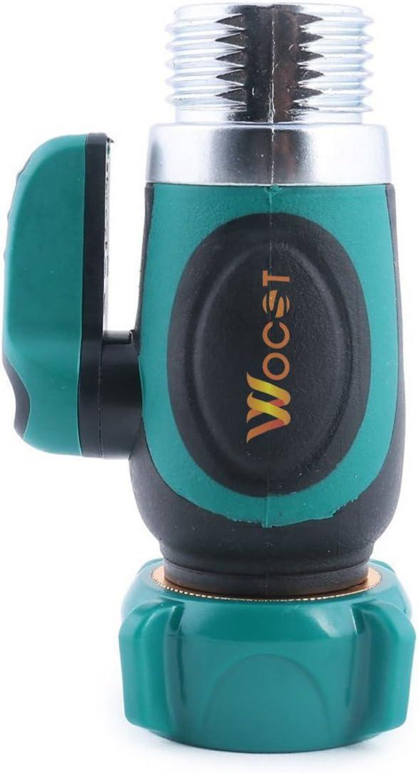 Wocst Garden Hose Splitter-Arthritis Friendly Fitting Shut Off Ball Valve Connector