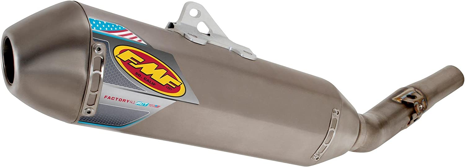 Natural Titanium with Titanium Mid Pipe for 16-18 KTM 450SXF FMF Factory 4.1 RCT Slip-On Exhaust