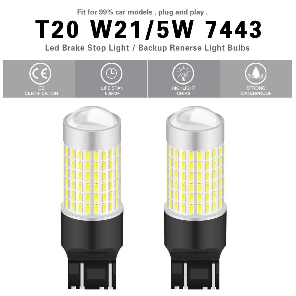 NATGIC 880 886 890 892 LED Bulbs Xenon White 1800LM 3014SMD 78-EX Chipsets with Lens Projector for Fog Light Daytime Running Light Automotive Driving Lamp 2-Pack 6500K,12-24V