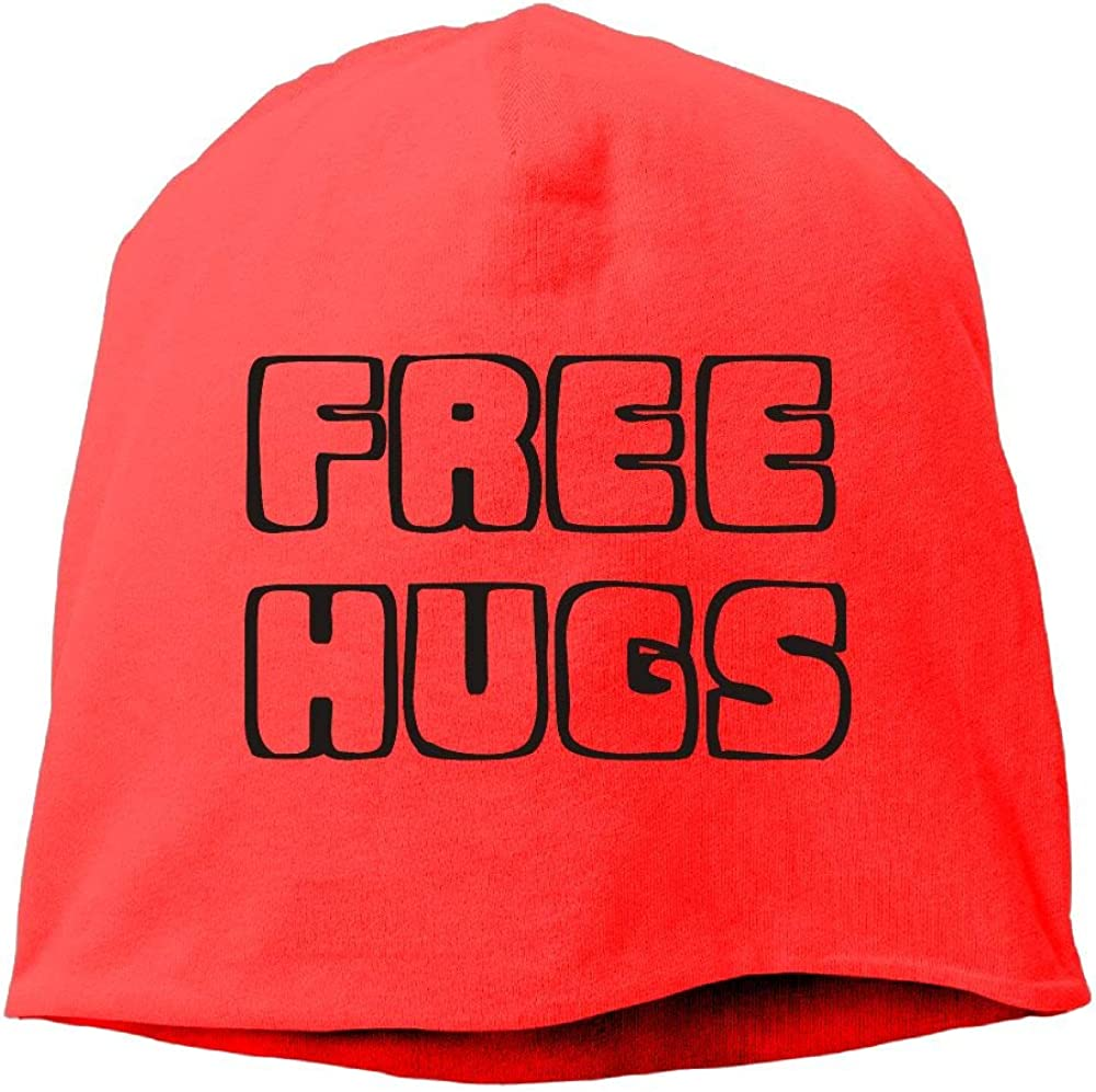 Janeither Headscarf Free Hugs Words Hip-Hop Knitted Hat for Mens Womens Fashion Beanie Cap