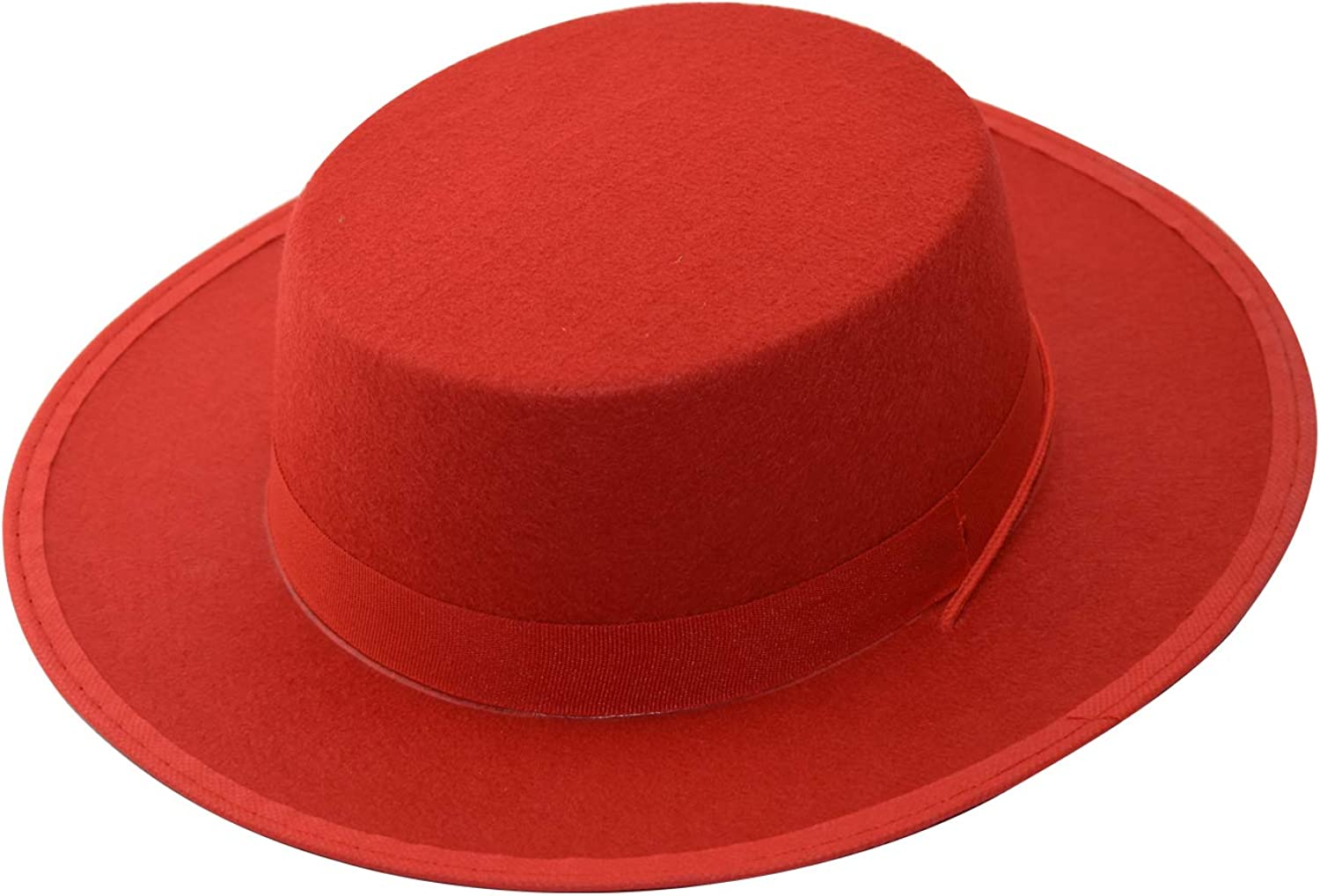 luyaoyao Black and Red Adult Deluxe Costume Spanish Felt Bolero Hat