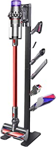 XIGOO Storage-Stand-Docking-Station-Holder-for-Dyson V11 V10 V8 V7 V6 Cordless Vacuum Cleaners & Accessories, Stable Metal Bracket Organizer Rack, Black