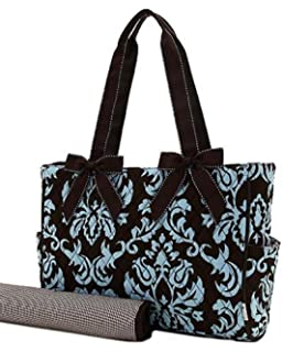 Amazon.com   Belvah Brown and Lime Quilted Floral 3 Pc Diaper Bag ... bf6bf0bda2