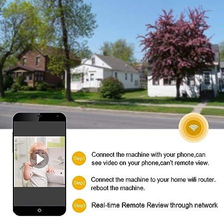 Amazon.com : Seahon Camera Smoke Detector Wireless Hidden Spy Camera WiFi 1080P Nanny Cam Motion Detection Home Security Wall Mount Camera Remote Control ...