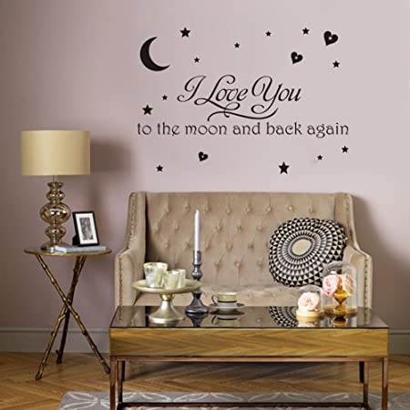 i love you to the moon and back again vinyl wall lettering